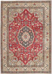 Tabriz Patina Matto 237X336 Itämainen Käsinsolmittu Vaaleanharmaa/Tummanpunainen (Villa, Persia/Iran)