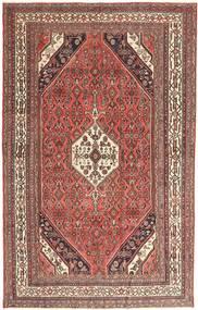 Hamadan Patina Matto 193X305 Itämainen Käsinsolmittu Tummanpunainen/Ruskea (Villa, Persia/Iran)