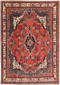 Hamadan Patina Matto 207X297 Itämainen Käsinsolmittu Tummanruskea/Tummanpunainen (Villa, Persia/Iran)