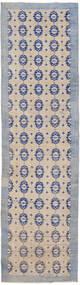 Colored Vintage Matto 85X307 Moderni Käsinsolmittu Käytävämatto Vaaleanharmaa/Vaaleanvioletti (Villa, Turkki)