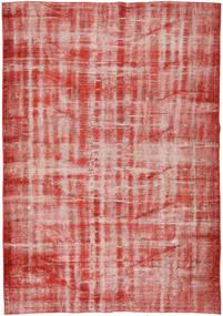 Colored Vintage Matto 177X251 Moderni Käsinsolmittu Tummanpunainen/Vaaleanpunainen (Villa, Turkki)