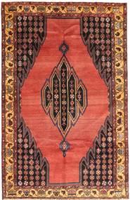 Hamadan Matto 135X213 Itämainen Käsinsolmittu Tummanpunainen/Tummanruskea (Villa, Persia/Iran)