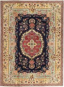 Tabriz Patina Matto 216X295 Itämainen Käsinsolmittu Tummanbeige/Ruskea (Villa, Persia/Iran)