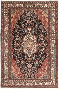 Hamadan Patina Matto 190X296 Itämainen Käsinsolmittu Tummanruskea/Tummanpunainen (Villa, Persia/Iran)