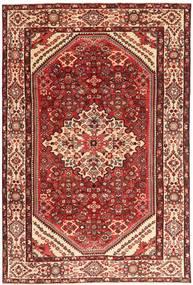 Hamadan Patina Matto 205X312 Itämainen Käsinsolmittu Tummanpunainen/Vaaleanpunainen (Villa, Persia/Iran)