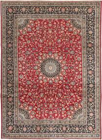 Najafabad Patina Matto 248X337 Itämainen Käsinsolmittu Tummanpunainen/Vaaleanharmaa (Villa, Persia/Iran)