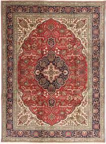 Tabriz Matto 253X343 Itämainen Käsinsolmittu Tummanruskea/Ruskea Isot (Villa, Persia/Iran)