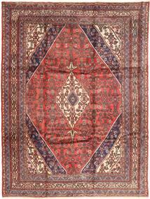 Hamadan Matto 256X348 Itämainen Käsinsolmittu Tummanpunainen/Ruoste Isot (Villa, Persia/Iran)