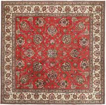 Tabriz Patina Matto 290X292 Itämainen Käsinsolmittu Neliö Tummanruskea/Ruoste Isot (Villa, Persia/Iran)