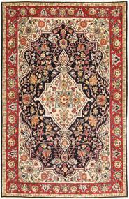 Tabriz Patina Matto 192X303 Itämainen Käsinsolmittu Tummanruskea/Tummanpunainen (Villa, Persia/Iran)