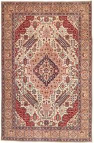 Tabriz Patina Matto 195X300 Itämainen Käsinsolmittu Vaaleanruskea/Vaaleanpunainen (Villa, Persia/Iran)