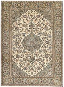 Keshan Patina Matto 230X325 Itämainen Käsinsolmittu Vaaleanharmaa/Vaaleanruskea (Villa, Persia/Iran)