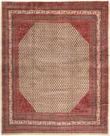 Sarough Mir Matto 303X376 Itämainen Käsinsolmittu Tummanruskea/Ruskea Isot (Villa, Persia/Iran)