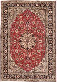 Tabriz Patina Matto 200X287 Itämainen Käsinsolmittu Tummanpunainen/Ruskea (Villa, Persia/Iran)