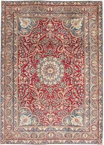 Kerman Patina Matto 248X344 Itämainen Käsinsolmittu Beige/Vaaleanharmaa (Villa, Persia/Iran)