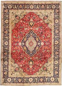 Tabriz Matto 246X338 Itämainen Käsinsolmittu Tummanpunainen/Tummanruskea (Villa, Persia/Iran)