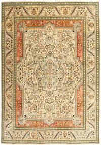 Tabriz Patina Matto 270X379 Itämainen Käsinsolmittu Tummanbeige/Beige/Vaaleanruskea Isot (Villa, Persia/Iran)