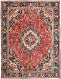 Tabriz Patina Matto 288X375 Itämainen Käsinsolmittu Tummanpunainen/Ruoste Isot (Villa, Persia/Iran)