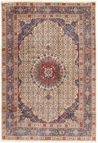 Moud Matto 198X288 Itämainen Käsinsolmittu Tummanpunainen/Vaaleanruskea (Villa, Persia/Iran)