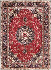 Tabriz Patina Matto 250X344 Itämainen Käsinsolmittu Tummanpunainen/Tummanruskea Isot (Villa, Persia/Iran)