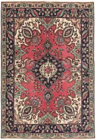 Tabriz Patina Matto 142X204 Itämainen Käsinsolmittu Tummanruskea/Tummanpunainen (Villa, Persia/Iran)
