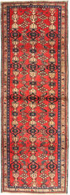 Zanjan Matto 102X300 Itämainen Käsinsolmittu Käytävämatto Tummanpunainen/Tummanruskea (Villa, Persia/Iran)