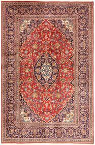 Keshan Matto 195X302 Itämainen Käsinsolmittu Tummanpunainen/Beige (Villa, Persia/Iran)