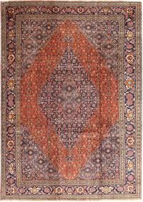 Tabriz Matto 237X345 Itämainen Käsinsolmittu Tummanpunainen/Vaaleanruskea (Villa, Persia/Iran)