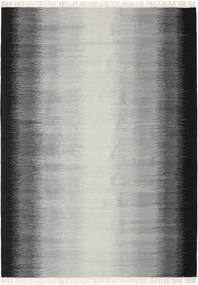 Ikat - Musta/Harmaa Matto 210X290 Moderni Käsinkudottu Vaaleanharmaa/Tummanharmaa (Villa, Intia)