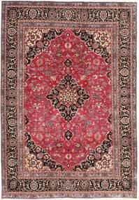 Mashad Patina Matto 195X278 Itämainen Käsinsolmittu Tummanpunainen/Ruoste (Villa, Persia/Iran)