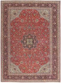 Sarough Patina Matto 252X350 Itämainen Käsinsolmittu Tummanpunainen/Ruskea Isot (Villa, Persia/Iran)