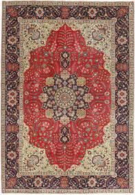 Tabriz Patina Matto 203X290 Itämainen Käsinsolmittu Tummanpunainen/Vaaleanruskea (Villa, Persia/Iran)