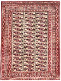 Turkaman Patina Matto 131X177 Itämainen Käsinsolmittu Tummanpunainen/Ruskea (Villa, Persia/Iran)