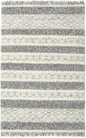 Kelim Berber Ibiza - Musta Ja Valkoinen Matto 200X300 Moderni Käsinkudottu Vaaleanharmaa/Tummanharmaa/Tummanbeige (Villa, Intia)