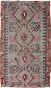 Kelim Turkki Matto 170X293 Itämainen Käsinkudottu Tummanharmaa/Ruskea (Villa, Turkki)