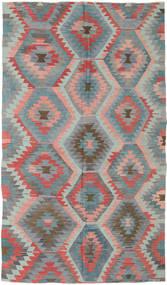 Kelim Turkki Matto 165X288 Itämainen Käsinkudottu Tummanharmaa/Vaaleanharmaa (Villa, Turkki)