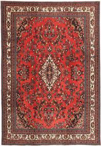 Hamadan Shahrbaf Patina Matto 255X368 Itämainen Käsinsolmittu Tummanpunainen/Tummanruskea Isot (Villa, Persia/Iran)
