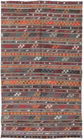 Kelim Turkki Matto 180X303 Itämainen Käsinkudottu Tummanpunainen/Tummanharmaa (Villa, Turkki)