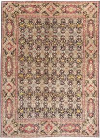 Tabriz Patina Matto 294X397 Itämainen Käsinsolmittu Tummanruskea/Tummanpunainen Isot (Villa, Persia/Iran)