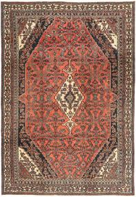 Hamadan Shahrbaf Patina Matto 233X334 Itämainen Käsinsolmittu Tummanpunainen/Tummanharmaa (Villa, Persia/Iran)