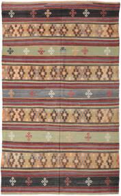 Kelim Turkki Matto 186X308 Itämainen Käsinkudottu Tummanpunainen/Tummanharmaa (Villa, Turkki)