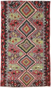 Kelim Turkki Matto 162X282 Itämainen Käsinkudottu Tummanpunainen/Tummanruskea (Villa, Turkki)