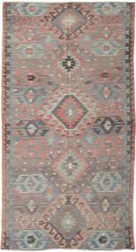 Kelim Turkki Matto 164X308 Itämainen Käsinkudottu Tummanharmaa/Vaaleanharmaa (Villa, Turkki)