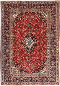 Keshan Matto 254X365 Itämainen Käsinsolmittu Tummanpunainen/Tummanruskea Isot (Villa, Persia/Iran)