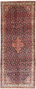 Hamadan Matto 125X314 Itämainen Käsinsolmittu Käytävämatto Tummanpunainen/Tummanruskea (Villa, Persia/Iran)