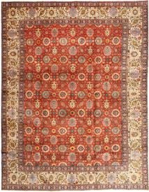 Tabriz Matto 304X385 Itämainen Käsinsolmittu Punainen/Ruskea Isot (Villa, Persia/Iran)