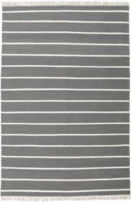 Dorri Stripe - Harmaa Matto 200X300 Moderni Käsinkudottu Tummanharmaa/Tummanvihreä (Villa, Intia)