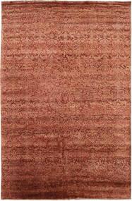 Damask Matto 193X300 Moderni Käsinsolmittu Punainen/Tummanpunainen ( Intia)