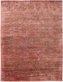 Damask Matto 278X367 Moderni Käsinsolmittu Tummanpunainen/Vaaleanruskea Isot ( Intia)