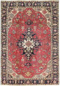 Tabriz Patina Matto 193X280 Itämainen Käsinsolmittu Tummanpunainen/Tummanharmaa (Villa, Persia/Iran)